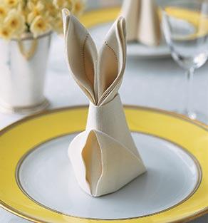 Doblar Servilleta forma de conejo